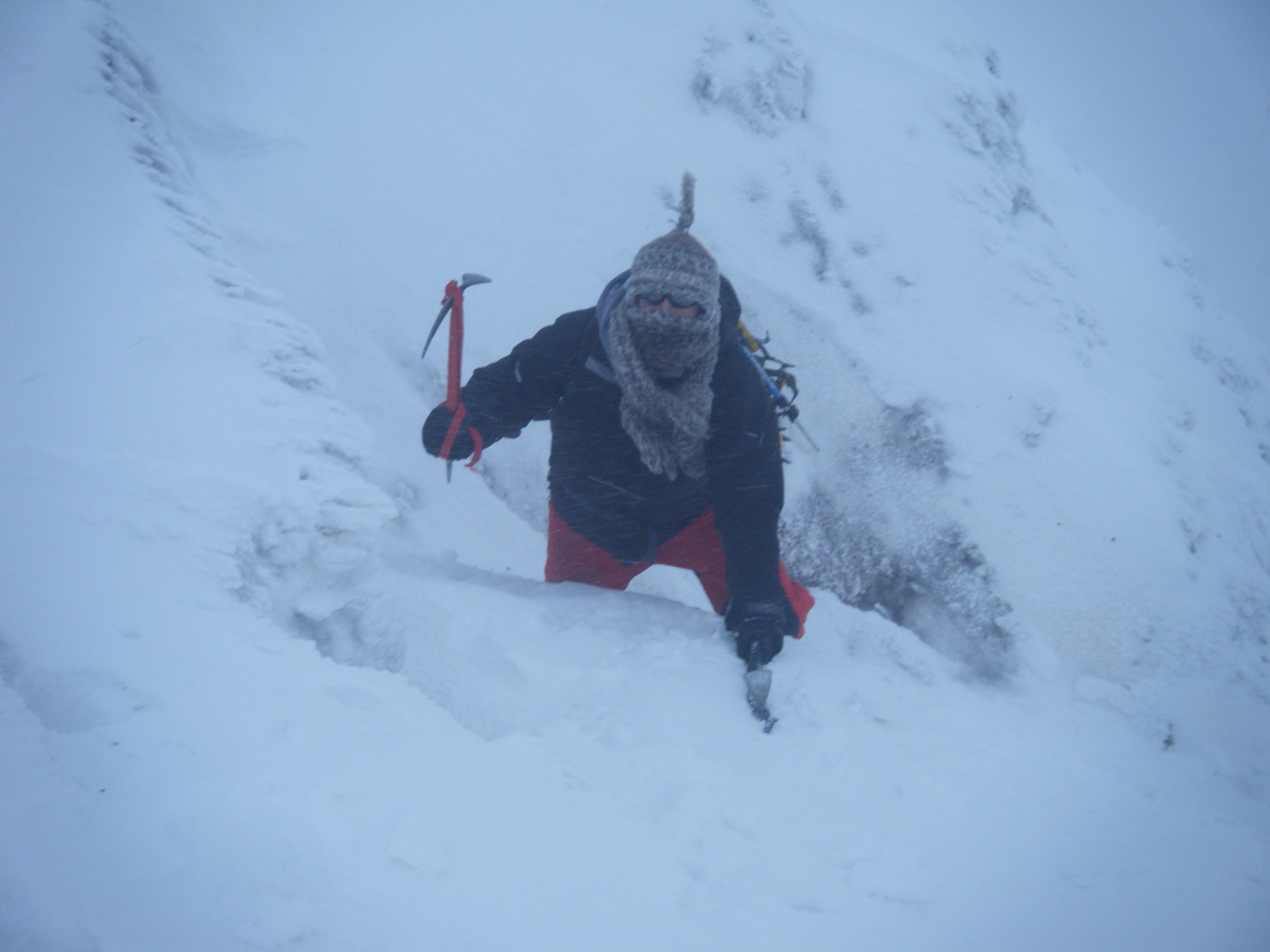 Mountaineering in the Snow