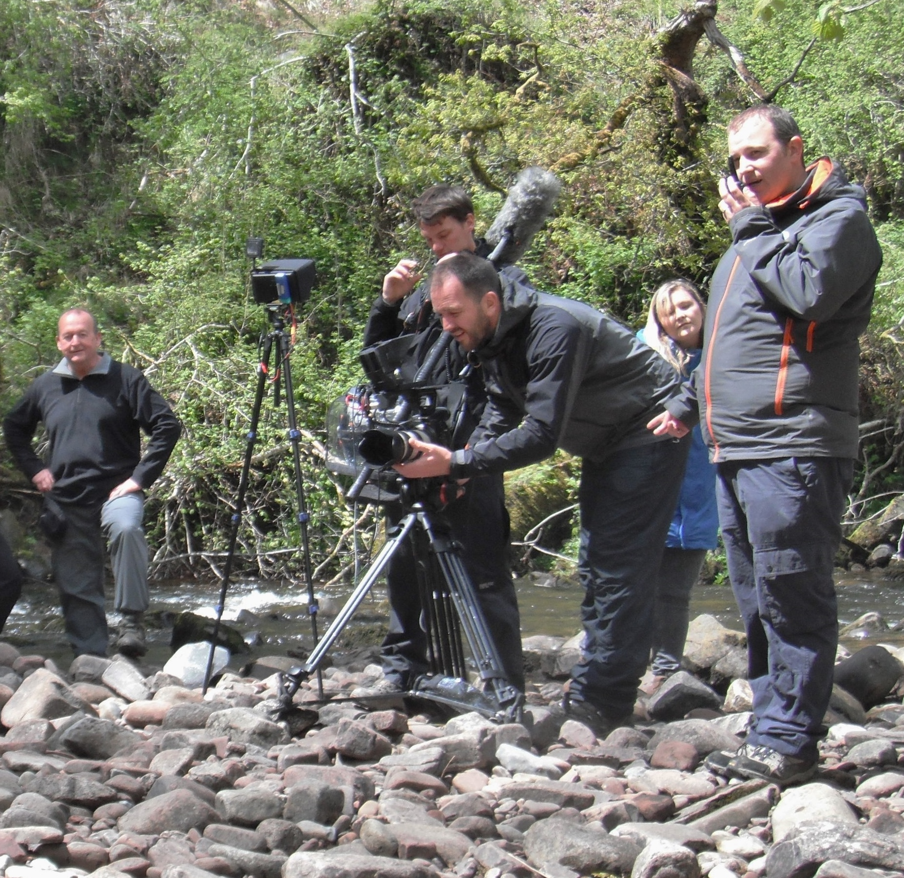 Boom TV S4C filmimg Y Gemau Gwyllt  with Mountain and River Activities Ltd
