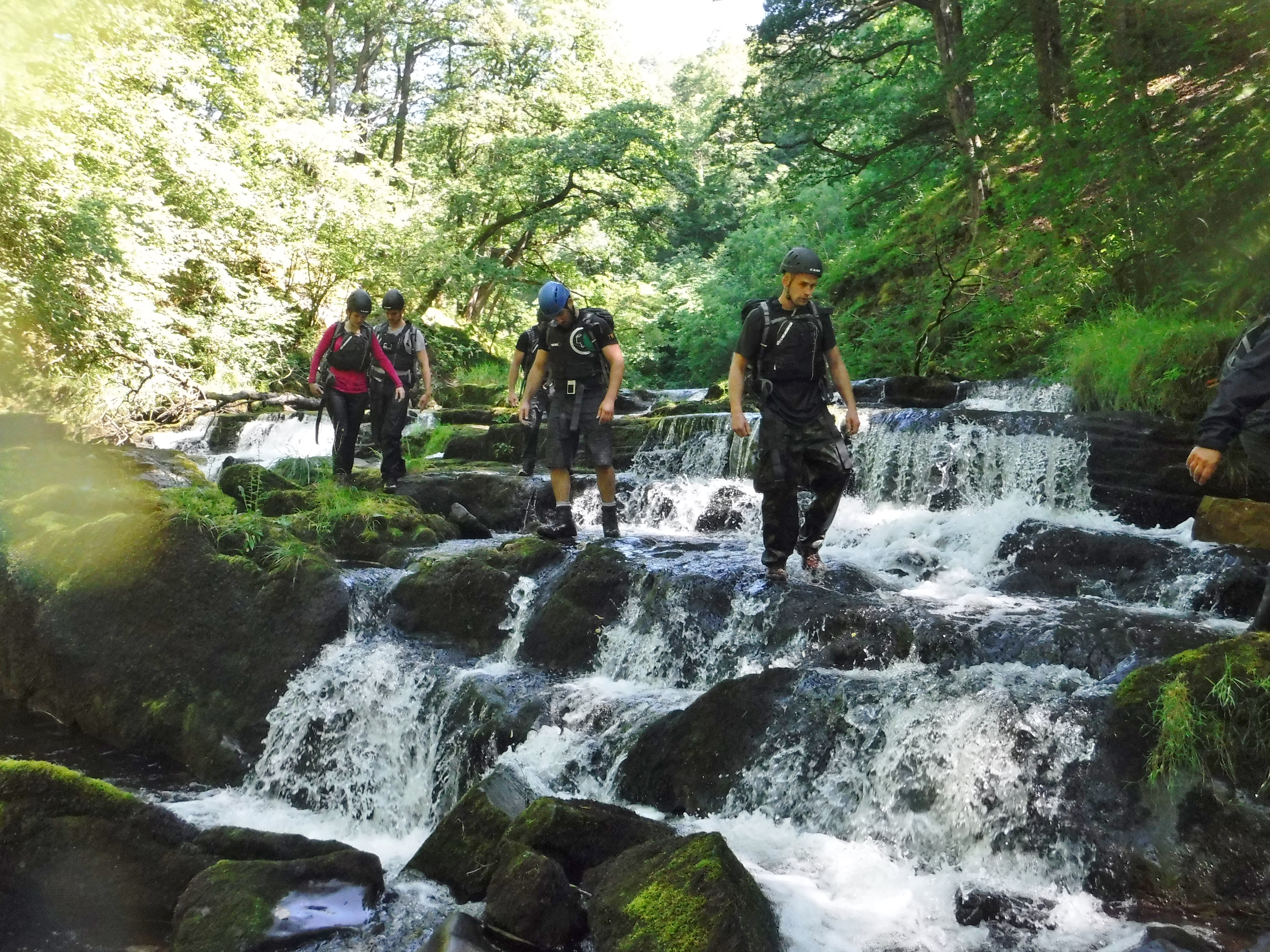 Gorge Walking down the Mellte River Brecon Beacons