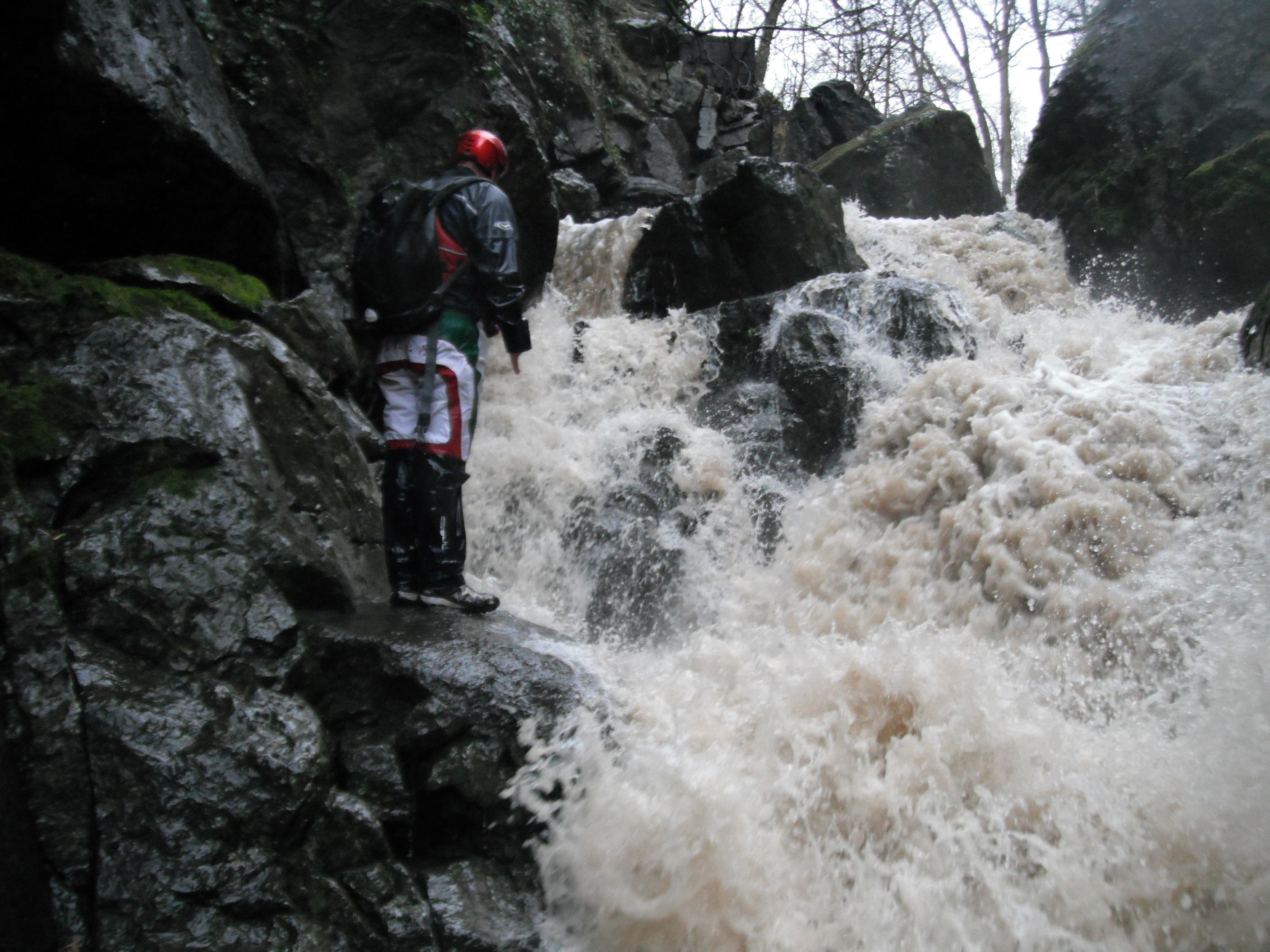 gorge walking river in full flow