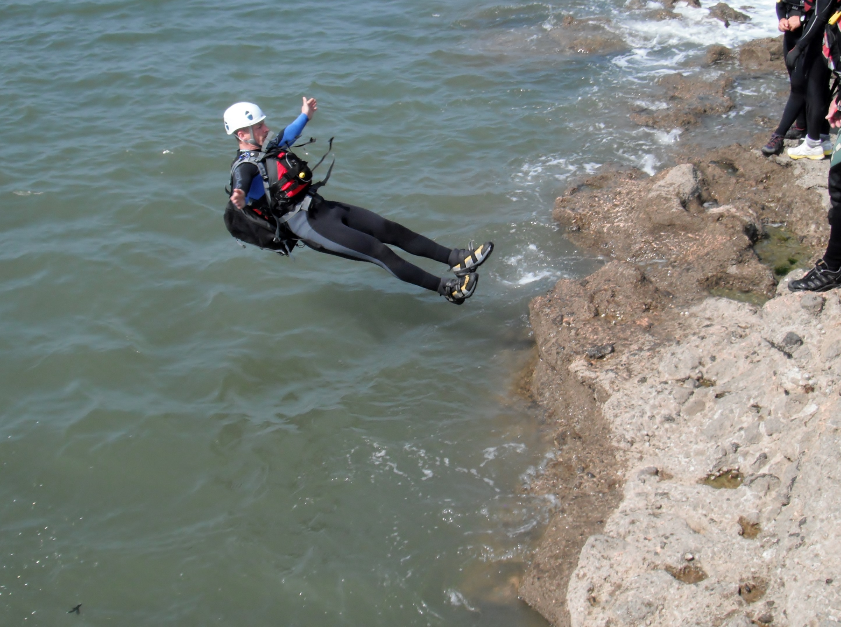 Coasteering in South Wales