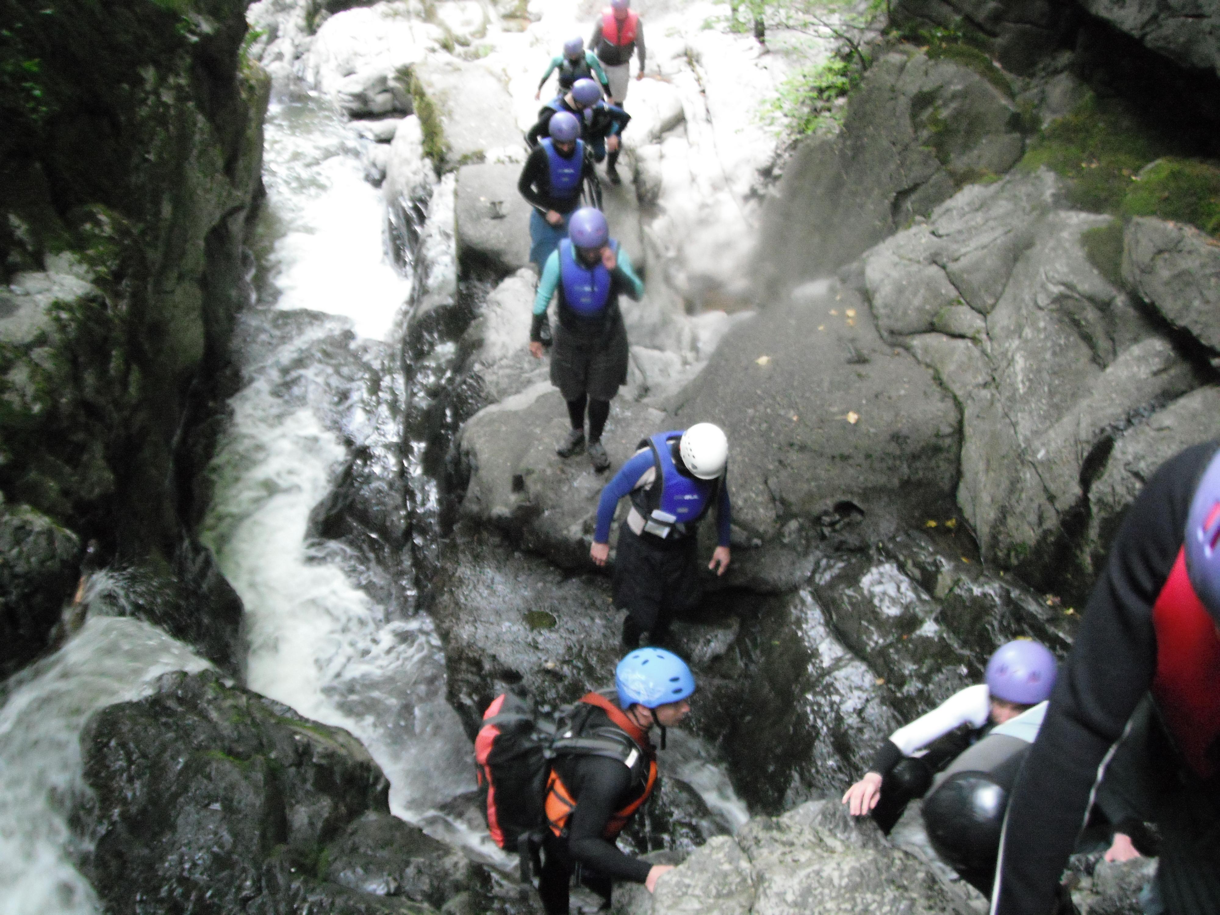Gorge Walking Canyoning Wales